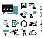 contact  commerce icon set | Shutterstock .eps vector #469180058