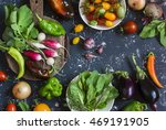 assortment of fresh vegetables  ... | Shutterstock . vector #469191905