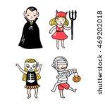 set of halloween characters.... | Shutterstock .eps vector #469202018