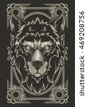 wolf vector design | Shutterstock .eps vector #469208756
