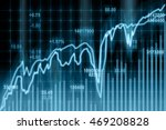 stock market chart closeup... | Shutterstock . vector #469208828
