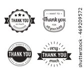 set of badges with thank you... | Shutterstock .eps vector #469209572