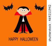 count dracula wearing black and ... | Shutterstock .eps vector #469211942
