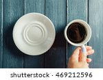 hands holding mug of hot drink... | Shutterstock . vector #469212596