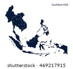map of southeast asia | Shutterstock .eps vector #469217915