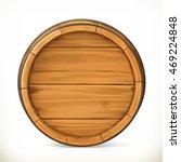 Barrel. Wooden Sign. Vector 3d...