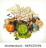 Halloween 3d Vector Invitation...