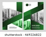 green cover design  annual... | Shutterstock .eps vector #469226822