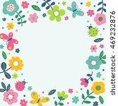 cute pastel flower  butterfly...   Shutterstock .eps vector #469232876