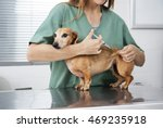 midsection of nurse giving... | Shutterstock . vector #469235918