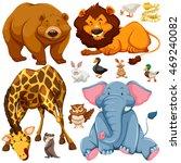 different types of wild animals ... | Shutterstock .eps vector #469240082