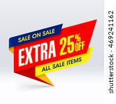sale on sale banner  extra 25 ... | Shutterstock .eps vector #469241162