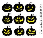 halloween pumpkin set. pumpkins ... | Shutterstock .eps vector #469242518