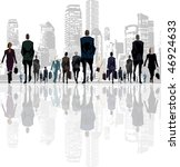 into the business city | Shutterstock . vector #46924633