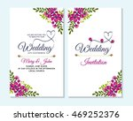 wedding invitation  thank you... | Shutterstock .eps vector #469252376