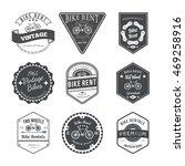 bike rent label and badges... | Shutterstock .eps vector #469258916