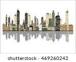 panorama picture of city skyline | Shutterstock .eps vector #469260242