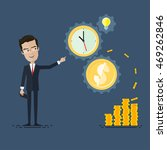 businessman or manager ... | Shutterstock .eps vector #469262846