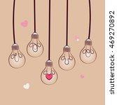 lightbulb of love concept...   Shutterstock .eps vector #469270892