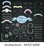 set of chalk drawing doodle... | Shutterstock .eps vector #469271858