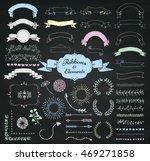 set of chalk drawing doodle... | Shutterstock .eps vector #469271858