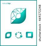 set logos molecule  science ... | Shutterstock .eps vector #469272248