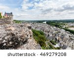 chinon walled castle. chinon is ... | Shutterstock . vector #469279208