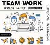 modern team work pack. thin... | Shutterstock .eps vector #469280018