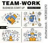 modern team work pack. thin... | Shutterstock .eps vector #469283192