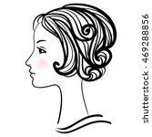woman face silhouette. female...   Shutterstock .eps vector #469288856