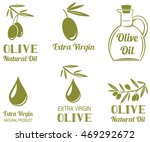 vector set of olive oil  labels | Shutterstock .eps vector #469292672