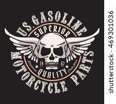 motorcycle gasoline skull... | Shutterstock .eps vector #469301036