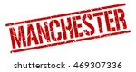 manchester stamp. red square... | Shutterstock .eps vector #469307336