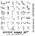 vector hand drawn arrows set   Shutterstock .eps vector #469308338