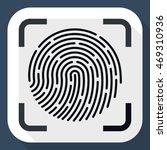 vector fingerprint scanner icon | Shutterstock .eps vector #469310936