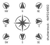 compass icons with different... | Shutterstock .eps vector #469314002