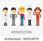 vector set of professions in... | Shutterstock .eps vector #469316972
