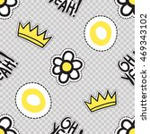 vector seamless pattern with oh ... | Shutterstock .eps vector #469343102