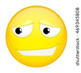 uncertainly smiling emoji.... | Shutterstock .eps vector #469345808