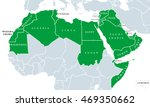 arab world political map  also... | Shutterstock .eps vector #469350662