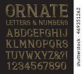 golden ornate capital letters... | Shutterstock .eps vector #469351262