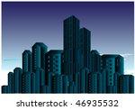 dark city view | Shutterstock .eps vector #46935532