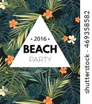 bright hawaiian design with... | Shutterstock . vector #469358582