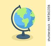 globe school supplies vector... | Shutterstock .eps vector #469361336