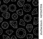 seamless pattern with diamonds...   Shutterstock .eps vector #469365506