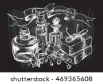 composition with glass bottles  ... | Shutterstock .eps vector #469365608