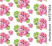 delicate pink geranium flowers...   Shutterstock .eps vector #469375826