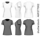 women's  short sleeve  t shirt. ... | Shutterstock .eps vector #469377002