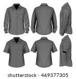 formal shirts  button down... | Shutterstock .eps vector #469377305