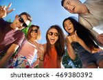 happy friendship concept with... | Shutterstock . vector #469380392
